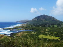 Άποψη της Νίκαιας του κρατήρα Koko, Oahu, Χαβάη Στοκ φωτογραφία με δικαίωμα ελεύθερης χρήσης