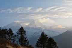 Άποψη της νότιας σειράς Annapurna από το Hill Poon Στοκ φωτογραφίες με δικαίωμα ελεύθερης χρήσης