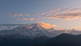 Άποψη της νότιας σειράς Annapurna από το Hill Poon Στοκ φωτογραφία με δικαίωμα ελεύθερης χρήσης