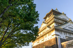 Άποψη της Οζάκα Castle Στοκ Φωτογραφίες