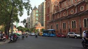 Άποψη της οδού σε Saigon, Βιετνάμ φιλμ μικρού μήκους