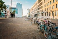 Άποψη της οδού Mannerheiminaukio στο ΕΛΣΙΝΚΙ Στοκ Φωτογραφία