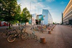 Άποψη της οδού Mannerheiminaukio στο ΕΛΣΙΝΚΙ Στοκ εικόνα με δικαίωμα ελεύθερης χρήσης