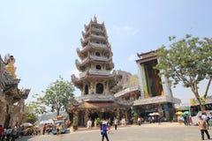 Άποψη της παγόδας Linh Phuoc Στοκ Εικόνες