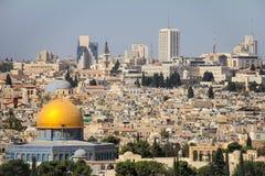 Άποψη της παλαιάς Ιερουσαλήμ Στοκ Εικόνες