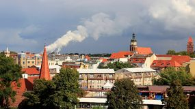 Άποψη της παλαιάς παλαιάς πόλης κτηρίου σε Cottbus Γερμανία Στοκ φωτογραφία με δικαίωμα ελεύθερης χρήσης