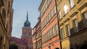 Άποψη της παλαιάς πόλης στη Βαρσοβία, Πολωνία Στοκ φωτογραφία με δικαίωμα ελεύθερης χρήσης