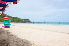 Άποψη της παραλίας και της θάλασσας στοκ φωτογραφία με δικαίωμα ελεύθερης χρήσης