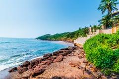 Άποψη της παραλίας Anjuna Στοκ Εικόνες