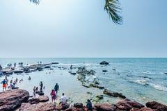 Άποψη της παραλίας Anjuna Στοκ εικόνα με δικαίωμα ελεύθερης χρήσης