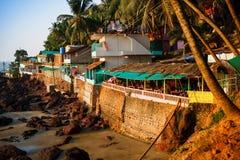 Άποψη της παραλίας Arambol το βράδυ, Goa, Ινδία Στοκ εικόνες με δικαίωμα ελεύθερης χρήσης