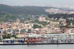 Άποψη της παραλίας της Λισσαβώνας, Πορτογαλία Στοκ Εικόνες