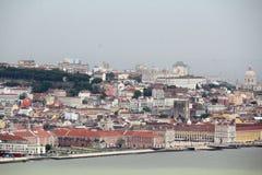 Άποψη της παραλίας της Λισσαβώνας, Πορτογαλία Στοκ φωτογραφία με δικαίωμα ελεύθερης χρήσης