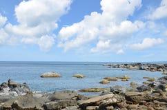 Άποψη της παραλίας της νότιας Ταϊβάν Στοκ εικόνα με δικαίωμα ελεύθερης χρήσης