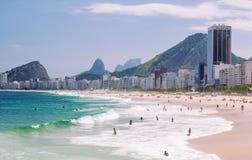 Άποψη της παραλίας Copacabana στο Ρίο ντε Τζανέιρο Στοκ φωτογραφίες με δικαίωμα ελεύθερης χρήσης