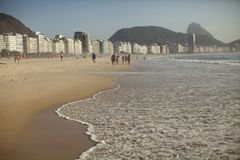 Άποψη της παραλίας Copacabana στοκ εικόνα