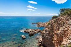 Άποψη της παραλίας Rondinara στο νησί της Κορσικής στη Γαλλία Στοκ Εικόνες