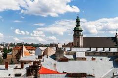 Άποψη της παλαιάς πόλης Lviv Στοκ Εικόνα
