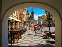 Άποψη της παλαιάς πλατείας της πόλης, Πράγα, Δημοκρατία της Τσεχίας Στοκ εικόνες με δικαίωμα ελεύθερης χρήσης