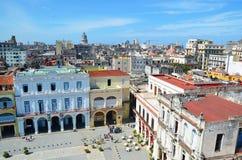 Άποψη της παλαιάς πλατείας της πόλης στην Αβάνα, Κούβα Στοκ φωτογραφία με δικαίωμα ελεύθερης χρήσης