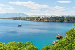 Άποψη της περιοχής Konyaalti σε Antalya Τουρκία Στοκ Εικόνες