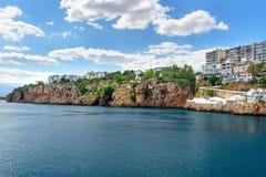Άποψη της περιοχής Konyaalti σε Antalya Τουρκία Στοκ φωτογραφία με δικαίωμα ελεύθερης χρήσης