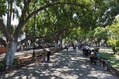 Άποψη της πλατείας ή Plaza de Λα Independencia Plaza Grande στο Μέριντα, Μεξικό Στοκ φωτογραφία με δικαίωμα ελεύθερης χρήσης