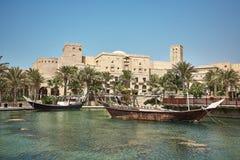 Άποψη της πολυτέλειας 5 ξενοδοχείο Madinat Jumeirah αστεριών Στοκ φωτογραφία με δικαίωμα ελεύθερης χρήσης