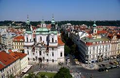 Άποψη της Πράγας από τον παλαιό πύργο Δημαρχείων Στοκ Φωτογραφία