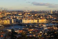 Άποψη της Πράγας από το λόφο Pershinsky στοκ φωτογραφίες με δικαίωμα ελεύθερης χρήσης