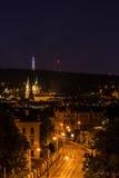 Άποψη της Πράγας στη νύχτα Στοκ φωτογραφίες με δικαίωμα ελεύθερης χρήσης