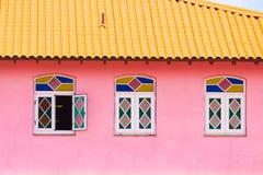 Άποψη της πρόσοψης του κτηρίου, Vinales, Pinar del Rio, Κούβα Κινηματογράφηση σε πρώτο πλάνο Στοκ Εικόνες
