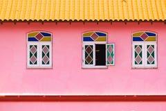 Άποψη της πρόσοψης του κτηρίου, Vinales, Pinar del Rio, Κούβα Κινηματογράφηση σε πρώτο πλάνο Στοκ εικόνα με δικαίωμα ελεύθερης χρήσης