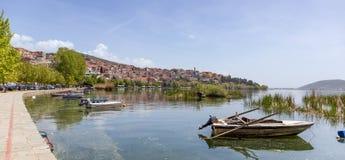 Άποψη της πόλης της Καστοριάς, Μακεδονία, Ελλάδα στοκ εικόνα