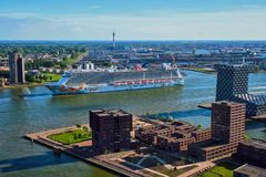 Άποψη της πόλης του Ρότερνταμ Στοκ Εικόνα