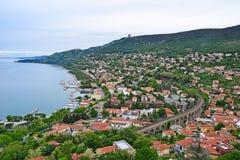 Άποψη της πόλης Ankaran, Σλοβενία Στοκ Εικόνες