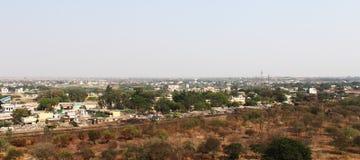 Άποψη της πόλης Bijapur από Golgumbaz Στοκ Φωτογραφία