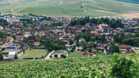 Άποψη της πόλης Chablis στοκ φωτογραφία