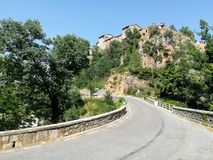 Άποψη της πόλης Fuente de Λα Reina από το δρόμο στοκ φωτογραφία με δικαίωμα ελεύθερης χρήσης