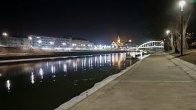 Άποψη της πόλης Gyor τη νύχτα, Ουγγαρία στοκ φωτογραφία με δικαίωμα ελεύθερης χρήσης