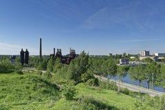 Άποψη της πόλης Nizhny Tagil από την κορυφή του βουνού Στοκ Εικόνα