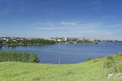 Άποψη της πόλης Nizhny Tagil από την κορυφή του βουνού Στοκ εικόνες με δικαίωμα ελεύθερης χρήσης
