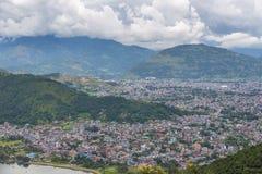 Άποψη της πόλης Pokhara και της λίμνης Phewa, Νεπάλ Στοκ φωτογραφία με δικαίωμα ελεύθερης χρήσης