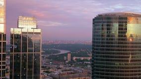 Άποψη της πόλης άνωθεν απόθεμα βίντεο