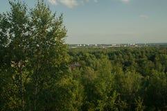 Άποψη της πόλης από το μεταβιομηχανικό bing Στοκ Εικόνα