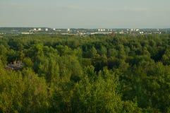 Άποψη της πόλης από το μεταβιομηχανικό bing Στοκ εικόνα με δικαίωμα ελεύθερης χρήσης