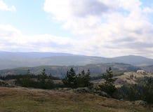 Άποψη της πόλης στα βουνά στοκ εικόνες
