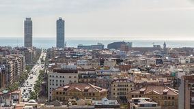 Άποψη της πόλης της Βαρκελώνης Στοκ φωτογραφία με δικαίωμα ελεύθερης χρήσης