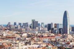 Άποψη της πόλης της Βαρκελώνης Στοκ εικόνα με δικαίωμα ελεύθερης χρήσης