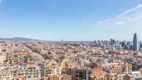Άποψη της πόλης της Βαρκελώνης Στοκ Εικόνες